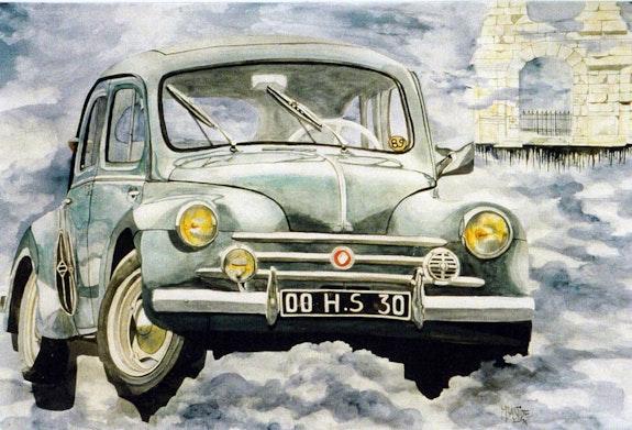 4Cv«la populaire» dans les nuages. Maryline Bastide Bastide Creations