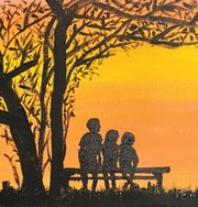 Family Time at Sunset. Lyle Rogers