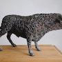 Taureau -sculpture métal. Sculpteur / Tauzia Jean-Pierre