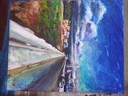 Pasando el puente. J Roberto Gallegos