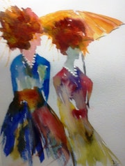 Sous l'ombrelle. Bernard Courtalon