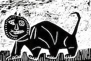 Schwarze Katze.