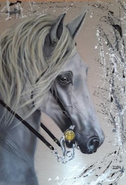Cheval blanc. Denise-Jane