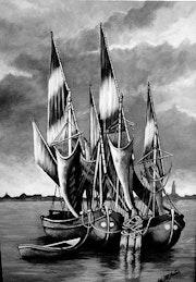 Les bateaux.