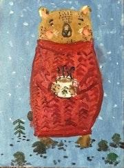 Bear with tee. Nika Pavliv