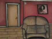 Un salon et son petit divan.