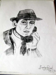 Dessin au crayon. Laurence Henry