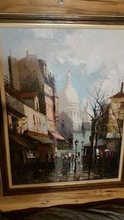Rue et vue sur Montmartr. Patrick Perez