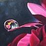 Fleur rouge à la goutte d'eau. Nathalie Martin