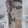 La vieille porte en bois. Claude Menge