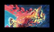 Gemälde «fly, little dragon». Exklusive-Art
