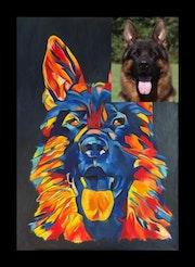 Ihr Tier in Öl gemalt nach Fotovorlage. Exklusive-Art