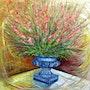 Le bouquet de glaeuls. Claude Evrard