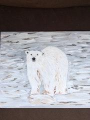 L'ours blanc sur sa banquise.