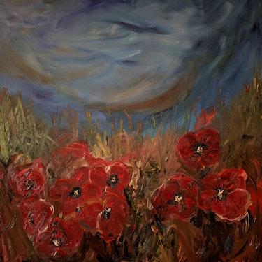 Poppies'Last Stand. Nickola Walker