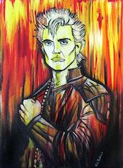 Billy Idol - pop art, acrylic on canvas.