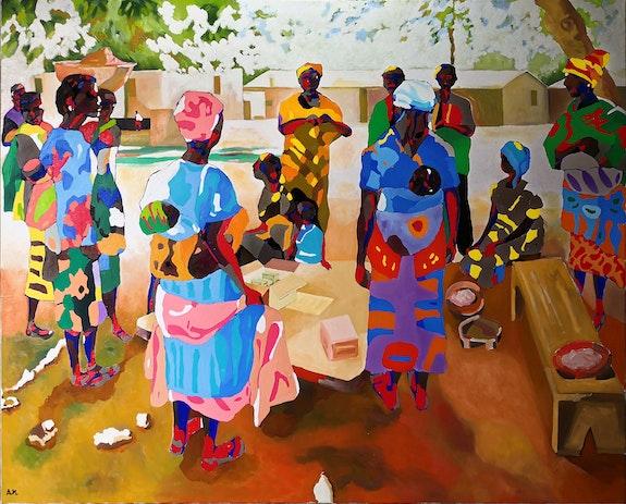 Le jour du vaccin à Topadomé. Armand Mokrane-Dubois Armok