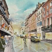 La rue de Metz, Toulouse. Vincent Bourdin