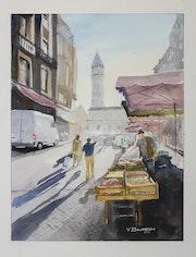 Jour de marché à Périgueux.