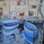 Le couple de barques. Constance Gignoux