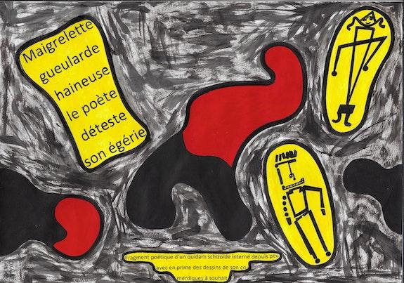 Fragment poétique d'un quidam schizoïde interné depuis peu 4291.. Dominique Cauvé Dominique Cauvé