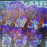 Bird mountain. Seties. Lash Art Studio