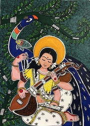Saraswati- the goddess of wisdom. Puja Dutta
