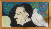 Nikola Tesla with the white dove 2. Sonja Bela