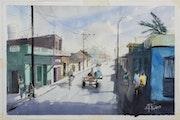 Une rue de Trinidad (Cuba).