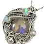 Lightning Ridge Australian Opal Pendant with Ethiopian Opals. Heather Jordan Jewelry