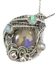 Lightning Ridge Australian Opal Pendant with Ethiopian Opals.