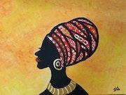 Portrait de la dame africaine. Josée Nicole Gauthier