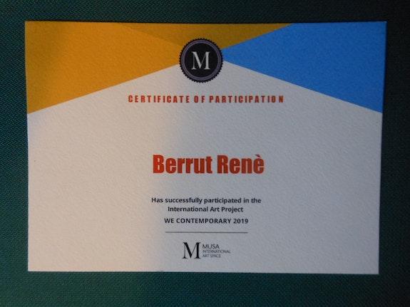 Distinction Musa Art 2019. Musa Art Berrut. Re. Inus