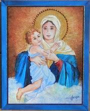 Vierge a l'enfant.