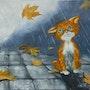 Chaton sous la pluie. Arina Tcherem