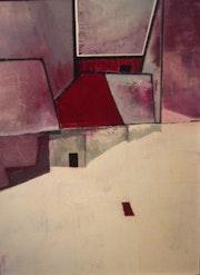 Nuit d'hiver Huile sur toile (81x60 cm).