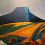 Le mont Granier Huile sur toile 2007 (60x73 cm). Alain Lamy
