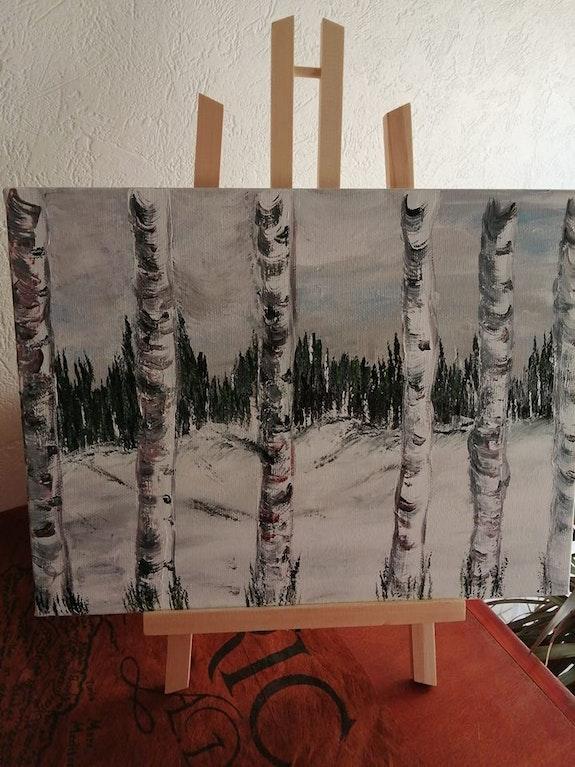 Les arbres enneigés. Rolland Danièle Sylviane Rolland