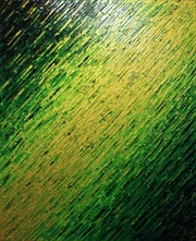 Abstract painting : Verdant knife texture..