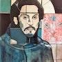 Pablo triste Huile sur bois 1985 (100x65 cm). Alain Lamy