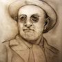 Portrait de Henri Matisse Fusain, Crayon 2008 (50x40 cm). Alain Lamy