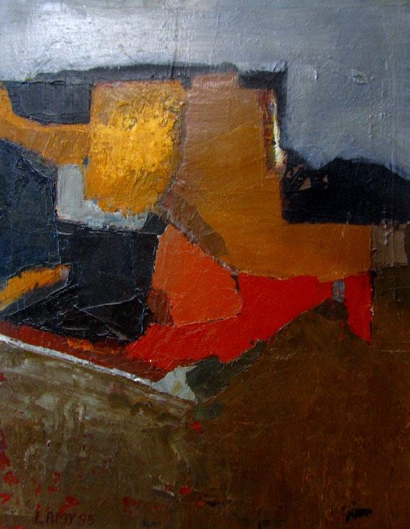 Rempart Huile sur bois (35x27 cm). Alain Lamy Alain Lamy