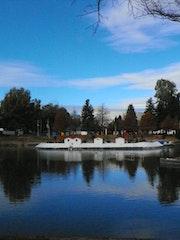 «Lago de los patos» parque guadiana. Leon Xlll