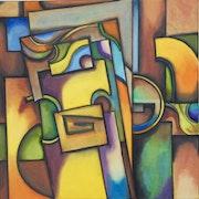 Jigsaw oil on canvas.