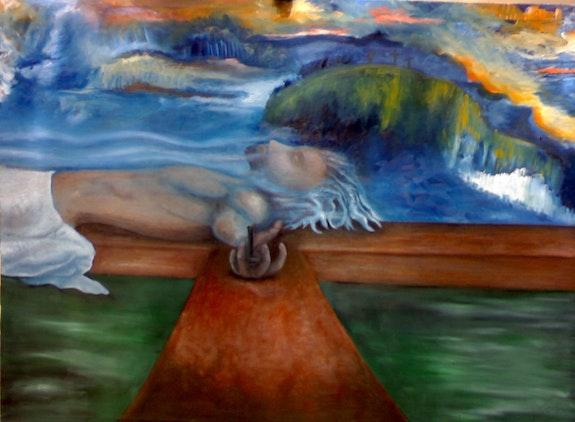 «Cristo en el Calvario». Luis Fernando Álvarez Santana Leon Xlll