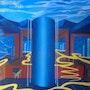 » La Ciudad Azul» óleo sobre tela. Leon Xlll