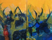 Colors of africa (1) and (2),. Jacques Donneaud