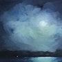 Clair de lune en bleu.
