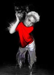 Mon fils - photomanipulation.