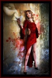 Femme - Dracula - photomanipulation -.